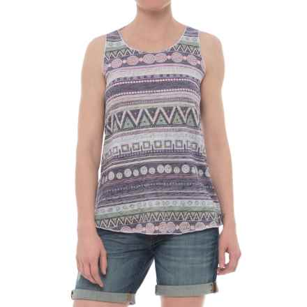 Ojai Burnout Summertime Tank Top (For Women) in Charcoal Stripe - Closeouts
