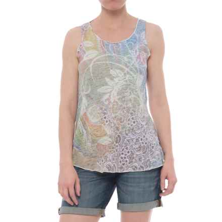 Ojai Burnout Summertime Tank Top (For Women) in Groovy Celery - Closeouts