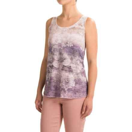 Ojai Burnout Summertime Tank Top (For Women) in Iris - Closeouts