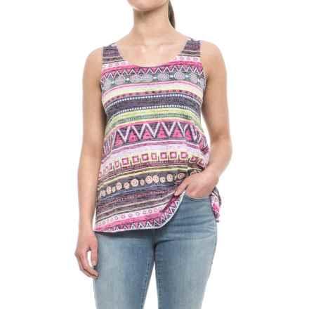 Ojai Burnout Summertime Tank Top (For Women) in Lemongrass - Closeouts