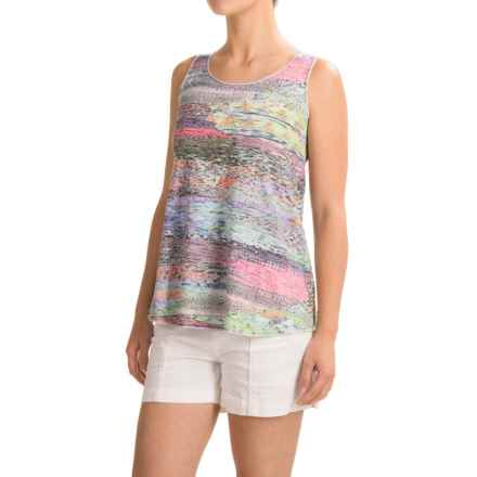 Ojai Burnout Summertime Tank Top (For Women) in Turquoise - Closeouts