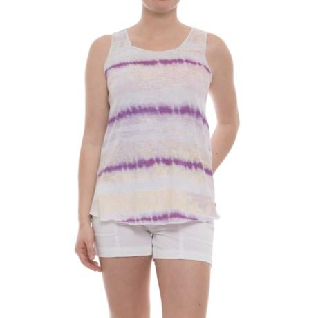 Ojai Burnout Summertime Tank Top (For Women) in Violet Grunge Stripe