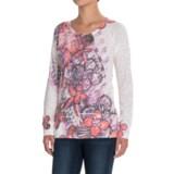 Ojai Burnout T-Shirt - Crew Neck, Long Sleeve (For Women)