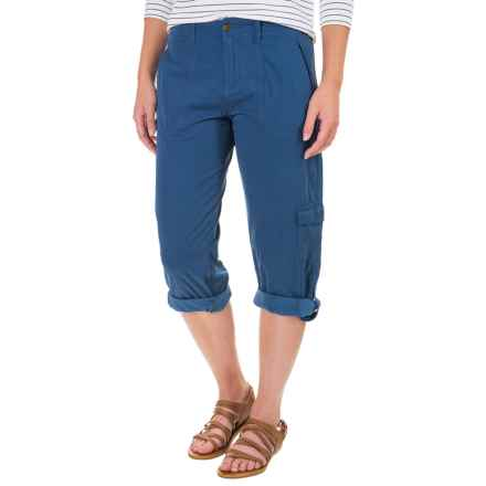 Ojai Cargo Road Trip Roll-Up Cargo Pants (For Women) in Indigo - Closeouts