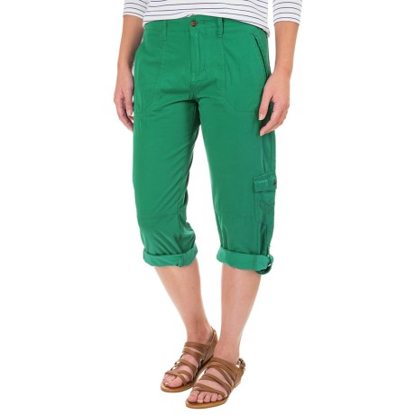 Ojai Cargo Road Trip Roll-Up Cargo Pants (For Women) in Moroccan Green