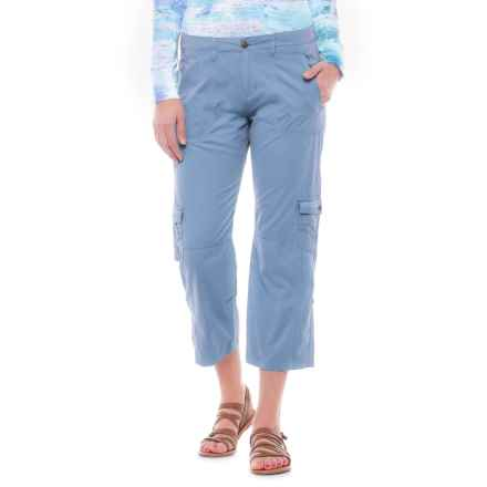 Ojai Cargo Road Trip Roll-Up Pants (For Women) in Chambray - Closeouts