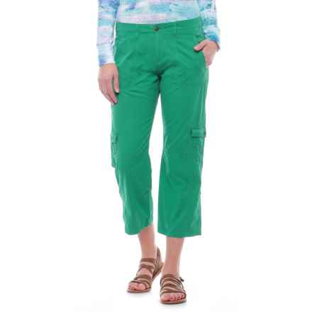Ojai Cargo Road Trip Roll-Up Pants (For Women) in Moroccan Green - Closeouts
