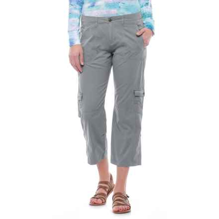 Ojai Cargo Road Trip Roll-Up Pants (For Women) in Quick Silver - Closeouts