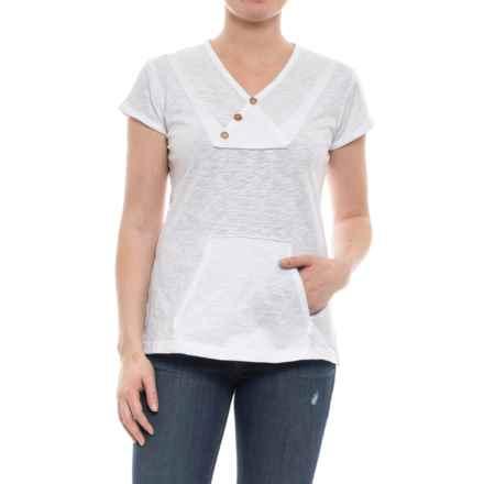 Ojai Crisscross Kangaroo Shirt - Short Sleeve (For Women) in White - Closeouts