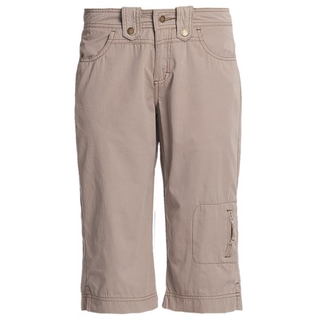 Ojai Fast Dry Capris (For Women) in Taupe