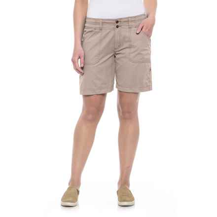 Ojai Fast Dry Roll-Up Shorts (For Women) in Taupe - Closeouts