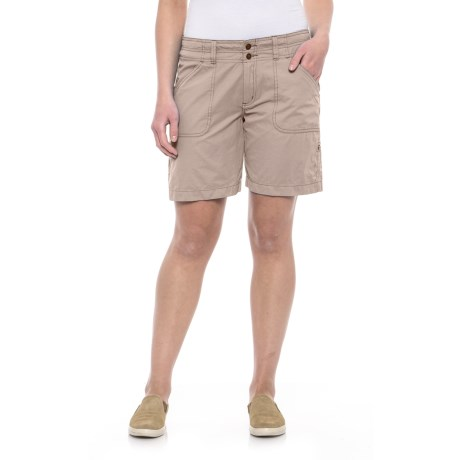 Ojai Fast Dry Roll-Up Shorts (For Women) in Taupe