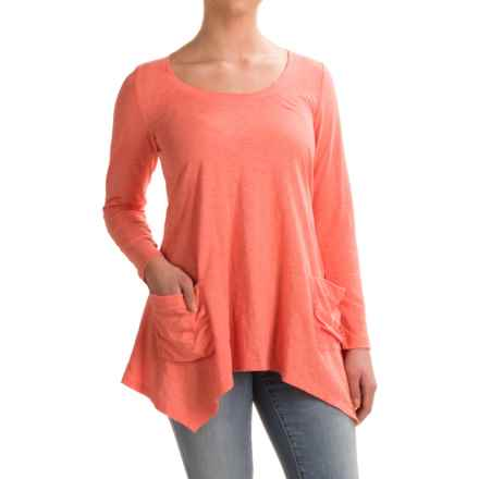 Ojai Favorite Shirt - Long Sleeve (For Women) in Coral - Closeouts