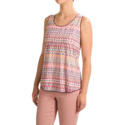 Ojai Globe-Trotter Breezy Tank Top (For Women) in Coral Needlepoint - Closeouts
