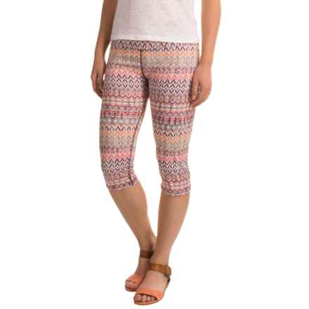 Ojai Globe-Trotter Capris (For Women) in Coral Needlepoint - Closeouts