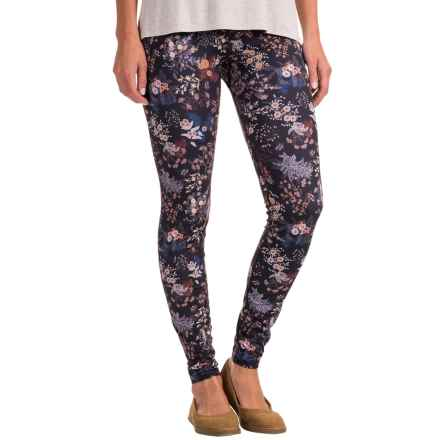 Ojai Globe Trotter Leggings (For Women) in Black Floral - Closeouts