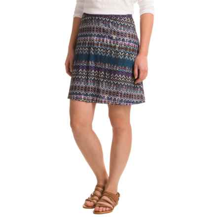 Ojai Globe-Trotter Travel Skirt (For Women) in Turquoise Needlepoint - Closeouts