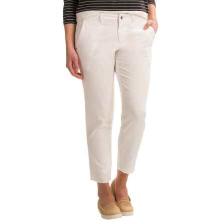 Ojai Gotta Have Cropped Pants (For Women) in White - Closeouts