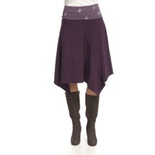 Ojai Jagged Edge 2 Boot Skirt - Stretch Cotton (For Women) in Blackberry - Closeouts