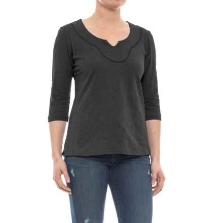 Ojai Lotus Shirt - Elbow Sleeve (For Women) in Black - Closeouts