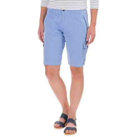 Ojai Road Trip Bermuda Shorts (For Women) in Chambray - Closeouts