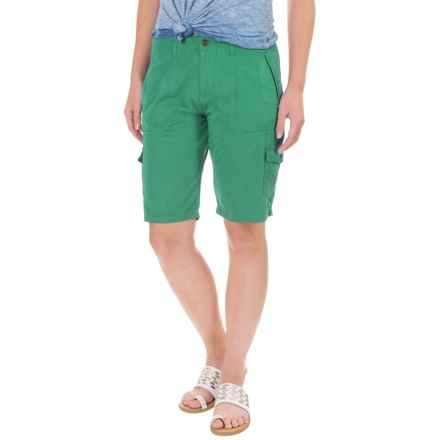 Ojai Road Trip Bermuda Shorts (For Women) in Moroccan Green - Closeouts