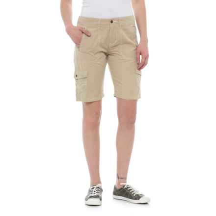 Ojai Road Trip Bermuda Shorts (For Women) in Warm Sand - Closeouts