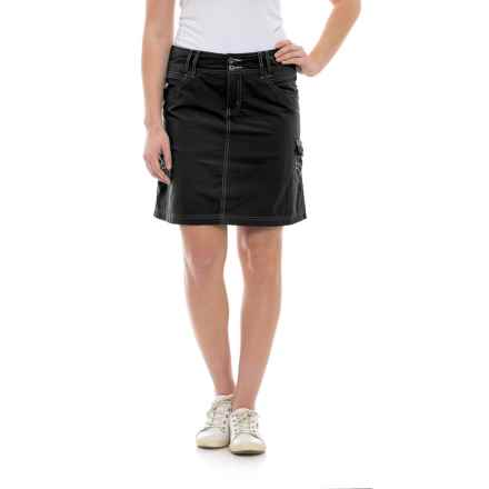 Ojai Road Trip Cargo Skirt (For Women) in Black - Closeouts