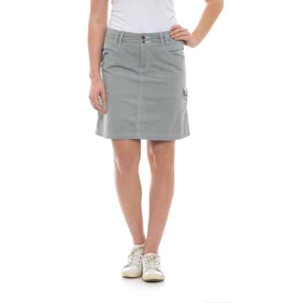 Ojai Road Trip Cargo Skirt (For Women) in Gray Dawn - Closeouts