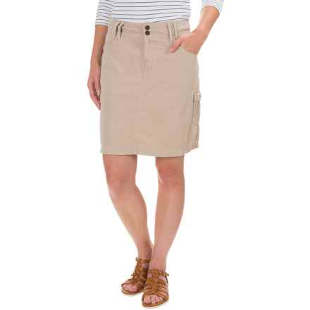 Ojai Road Trip Cargo Skirt (For Women) in Sesame - Closeouts