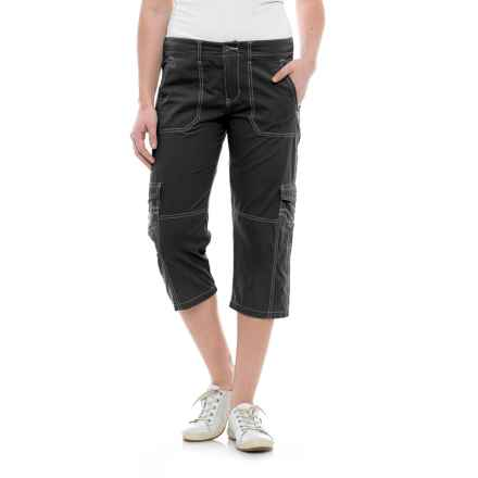 Ojai Road Trip Roll-Up Capris (For Women) in Black - Closeouts
