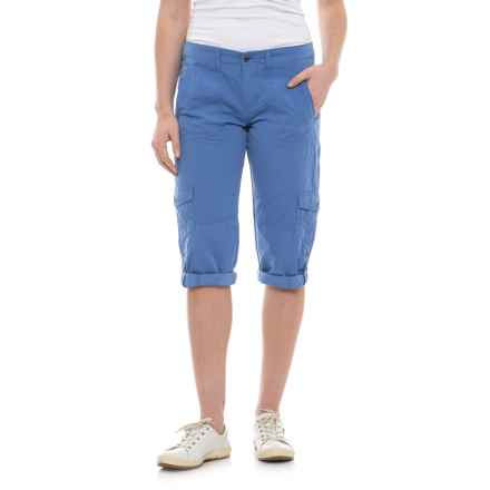 Ojai Road Trip Roll-Up Capris (For Women) in Cobalt Blue - Closeouts
