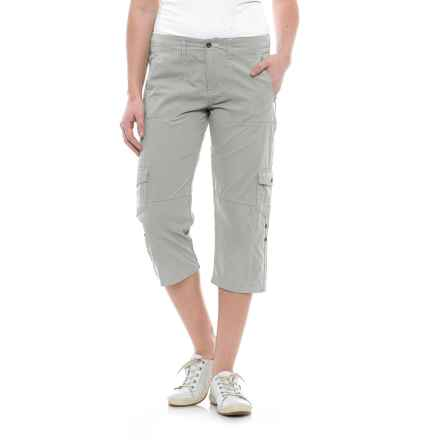 Ojai Road Trip Roll-Up Capris (For Women) in Gray Dqwn - Closeouts