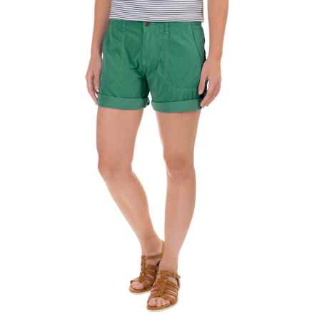 "Ojai Road Trip Shorts - 7"" (For Women) in Moroccan Green - Closeouts"