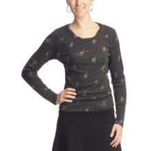 Ojai Starry Night Burnout Shirt - Long Sleeve (For Women) in Black - Closeouts