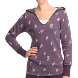 Ojai Starry Night Hooded Shirt - Long Sleeve (For Women) in Black