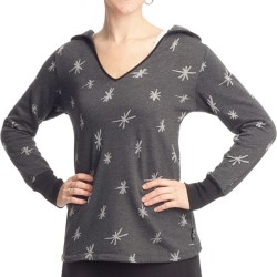 Ojai Starry Night Hooded Shirt - Long Sleeve (For Women) in Cardinal