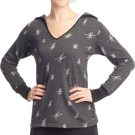Ojai Starry Night Hooded Shirt - Long Sleeve (For Women) in Black