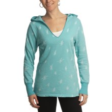 Ojai Starry Night Hoodie Shirt - Long Sleeve (For Women) in Peacock - Closeouts