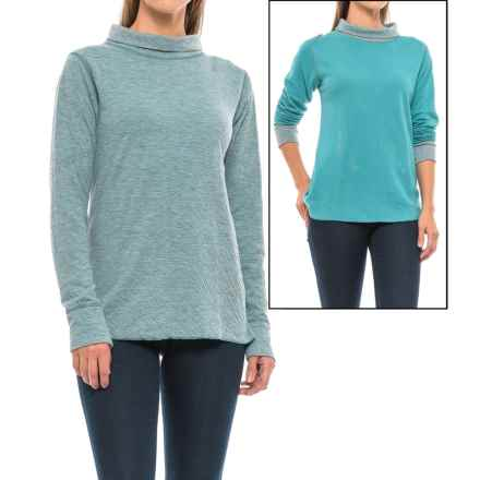 Ojai Topa Krush Turtleneck - Reversible, Long Sleeve (For Women) in Teal Blue - Closeouts