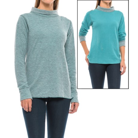Ojai Topa Krush Turtleneck - Reversible, Long Sleeve (For Women) in Teal Blue