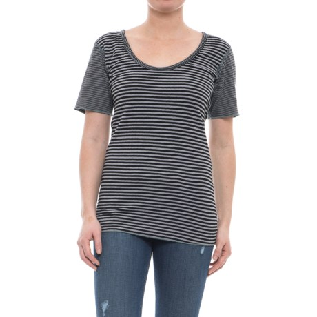 Ojai Topa Reversible Tunic Shirt - Short Sleeve (For Women) in Black
