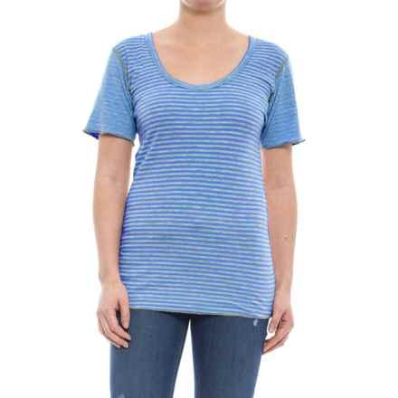 Ojai Topa Reversible Tunic Shirt - Short Sleeve (For Women) in Cobalt Blue - Closeouts