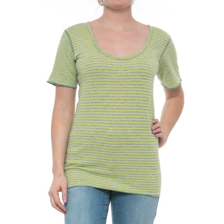 Ojai Topa Reversible Tunic Shirt - Short Sleeve (For Women) in Lemongrass