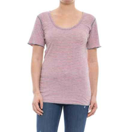 Ojai Topa Reversible Tunic Shirt - Short Sleeve (For Women) in Tea Rose - Closeouts