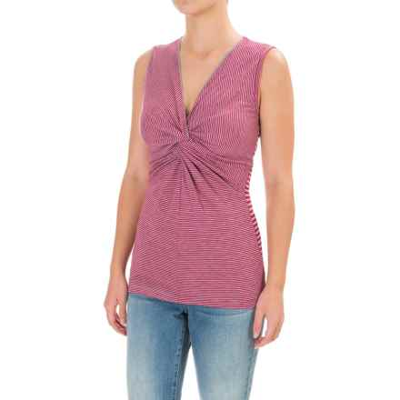 Ojai Topa Twisted Tank Top (For Women) in Deep Rose - Closeouts
