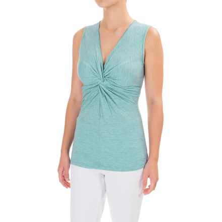 Ojai Topa Twisted Tank Top (For Women) in Turquoise - Closeouts
