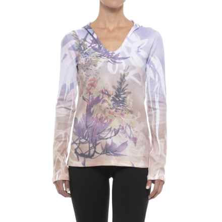 Ojai Waffle Hooded Shirt - Long Sleeve (For Women) in Boysenberry Nature - Closeouts