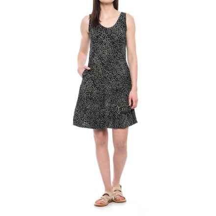 Ojai Weekend Batik Dress - Sleeveless (For Women) in Black Dots - Closeouts