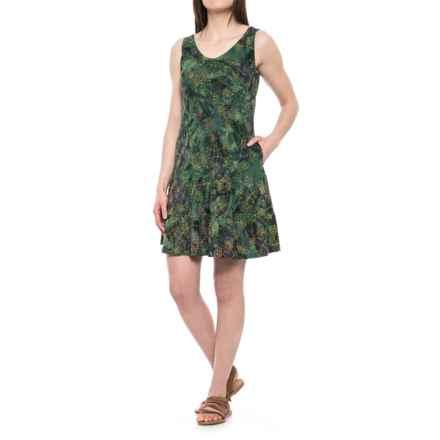 Ojai Weekend Batik Dress - Sleeveless (For Women) in Celery Wildflower - Closeouts